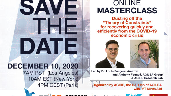 ONLINE MASTERCLASS | « Dusting off the Theory of Constraints for recovering quickly & efficiently from the COVID19 economic crisis »
